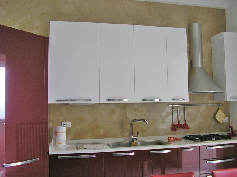 rivestimento muro cucina resina